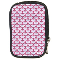 SCALES3 WHITE MARBLE & PINK DENIM (R) Compact Camera Cases