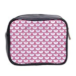 SCALES3 WHITE MARBLE & PINK DENIM (R) Mini Toiletries Bag 2-Side Back