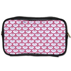 SCALES3 WHITE MARBLE & PINK DENIM (R) Toiletries Bags 2-Side