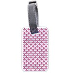 SCALES3 WHITE MARBLE & PINK DENIM (R) Luggage Tags (Two Sides) Front