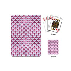 SCALES3 WHITE MARBLE & PINK DENIM (R) Playing Cards (Mini)