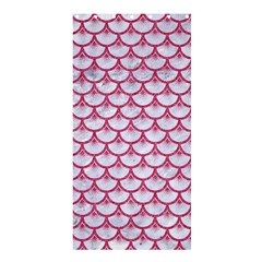 SCALES3 WHITE MARBLE & PINK DENIM (R) Shower Curtain 36  x 72  (Stall)