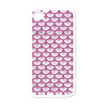 SCALES3 WHITE MARBLE & PINK DENIM (R) Apple iPhone 4 Case (White) Front