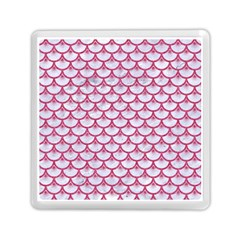 SCALES3 WHITE MARBLE & PINK DENIM (R) Memory Card Reader (Square)