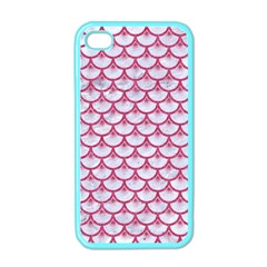 Scales3 White Marble & Pink Denim (r) Apple Iphone 4 Case (color) by trendistuff