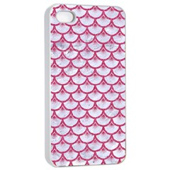 Scales3 White Marble & Pink Denim (r) Apple Iphone 4/4s Seamless Case (white) by trendistuff