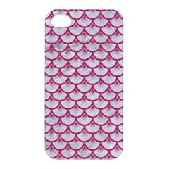 Scales3 White Marble & Pink Denim (r) Apple Iphone 4/4s Hardshell Case by trendistuff