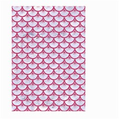 SCALES3 WHITE MARBLE & PINK DENIM (R) Large Garden Flag (Two Sides)