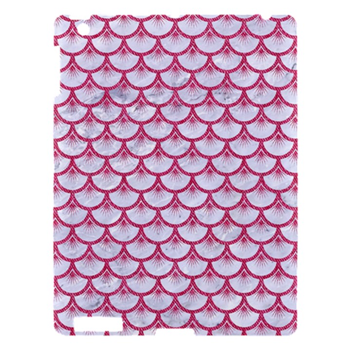 SCALES3 WHITE MARBLE & PINK DENIM (R) Apple iPad 3/4 Hardshell Case
