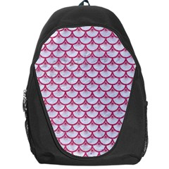 Scales3 White Marble & Pink Denim (r) Backpack Bag
