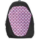 SCALES3 WHITE MARBLE & PINK DENIM (R) Backpack Bag Front