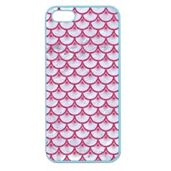 Scales3 White Marble & Pink Denim (r) Apple Seamless Iphone 5 Case (color) by trendistuff