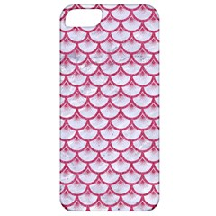 Scales3 White Marble & Pink Denim (r) Apple Iphone 5 Classic Hardshell Case