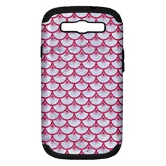 SCALES3 WHITE MARBLE & PINK DENIM (R) Samsung Galaxy S III Hardshell Case (PC+Silicone)