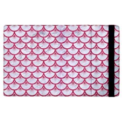 Scales3 White Marble & Pink Denim (r) Apple Ipad 2 Flip Case by trendistuff