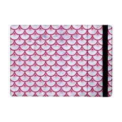 Scales3 White Marble & Pink Denim (r) Apple Ipad Mini Flip Case by trendistuff