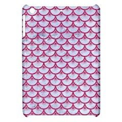 Scales3 White Marble & Pink Denim (r) Apple Ipad Mini Hardshell Case by trendistuff