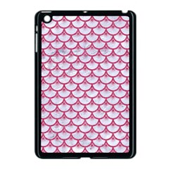 Scales3 White Marble & Pink Denim (r) Apple Ipad Mini Case (black) by trendistuff