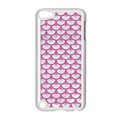 Scales3 White Marble & Pink Denim (r) Apple Ipod Touch 5 Case (white) by trendistuff