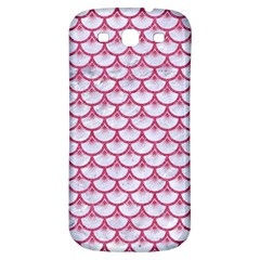 SCALES3 WHITE MARBLE & PINK DENIM (R) Samsung Galaxy S3 S III Classic Hardshell Back Case