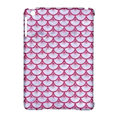 Scales3 White Marble & Pink Denim (r) Apple Ipad Mini Hardshell Case (compatible With Smart Cover) by trendistuff