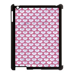 Scales3 White Marble & Pink Denim (r) Apple Ipad 3/4 Case (black) by trendistuff
