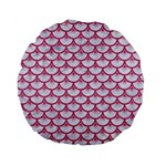 SCALES3 WHITE MARBLE & PINK DENIM (R) Standard 15  Premium Round Cushions Back