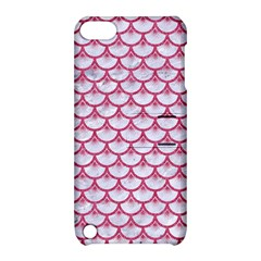 Scales3 White Marble & Pink Denim (r) Apple Ipod Touch 5 Hardshell Case With Stand by trendistuff