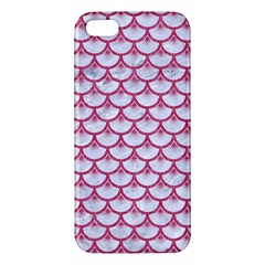 SCALES3 WHITE MARBLE & PINK DENIM (R) Apple iPhone 5 Premium Hardshell Case