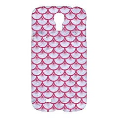 Scales3 White Marble & Pink Denim (r) Samsung Galaxy S4 I9500/i9505 Hardshell Case by trendistuff