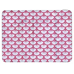 Scales3 White Marble & Pink Denim (r) Samsung Galaxy Tab 7  P1000 Flip Case by trendistuff