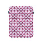 SCALES3 WHITE MARBLE & PINK DENIM (R) Apple iPad 2/3/4 Protective Soft Cases Front