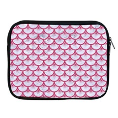 Scales3 White Marble & Pink Denim (r) Apple Ipad 2/3/4 Zipper Cases by trendistuff