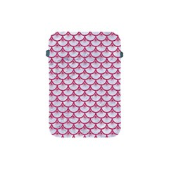 Scales3 White Marble & Pink Denim (r) Apple Ipad Mini Protective Soft Cases by trendistuff