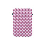SCALES3 WHITE MARBLE & PINK DENIM (R) Apple iPad Mini Protective Soft Cases Front
