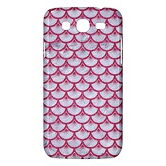 Scales3 White Marble & Pink Denim (r) Samsung Galaxy Mega 5 8 I9152 Hardshell Case  by trendistuff