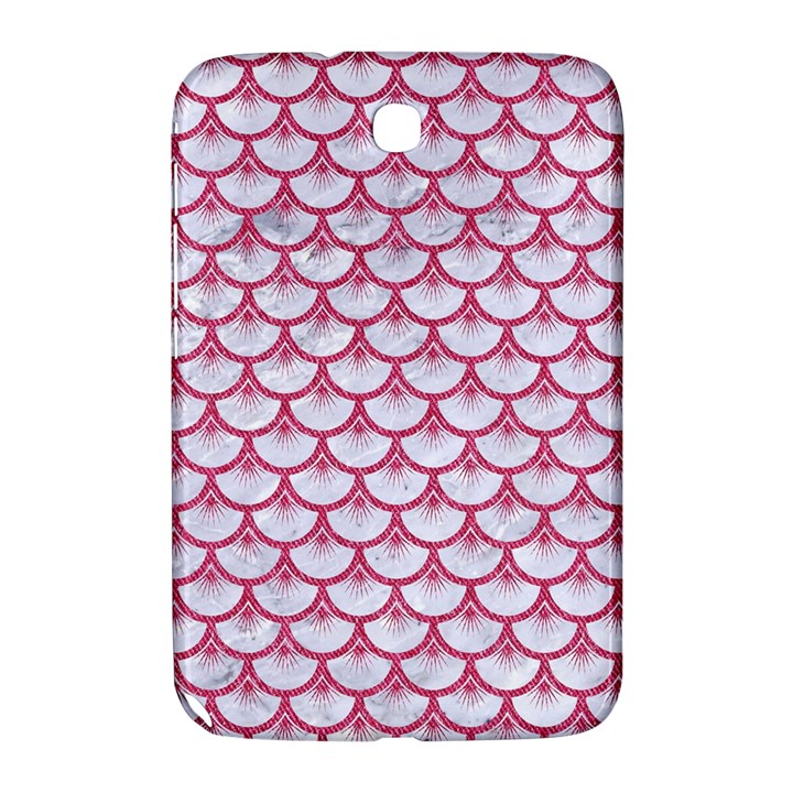 SCALES3 WHITE MARBLE & PINK DENIM (R) Samsung Galaxy Note 8.0 N5100 Hardshell Case
