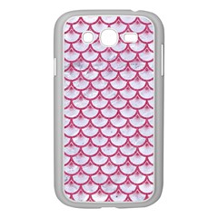 Scales3 White Marble & Pink Denim (r) Samsung Galaxy Grand Duos I9082 Case (white)