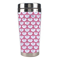SCALES3 WHITE MARBLE & PINK DENIM (R) Stainless Steel Travel Tumblers