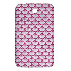 Scales3 White Marble & Pink Denim (r) Samsung Galaxy Tab 3 (7 ) P3200 Hardshell Case  by trendistuff
