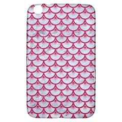 Scales3 White Marble & Pink Denim (r) Samsung Galaxy Tab 3 (8 ) T3100 Hardshell Case  by trendistuff