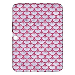 SCALES3 WHITE MARBLE & PINK DENIM (R) Samsung Galaxy Tab 3 (10.1 ) P5200 Hardshell Case