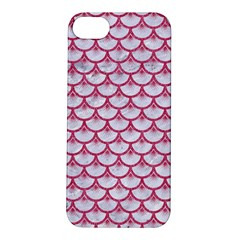 Scales3 White Marble & Pink Denim (r) Apple Iphone 5s/ Se Hardshell Case by trendistuff