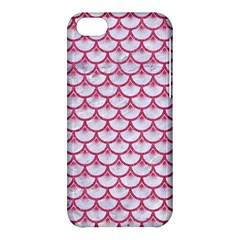 SCALES3 WHITE MARBLE & PINK DENIM (R) Apple iPhone 5C Hardshell Case
