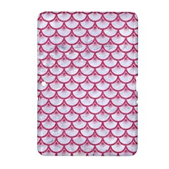 Scales3 White Marble & Pink Denim (r) Samsung Galaxy Tab 2 (10 1 ) P5100 Hardshell Case