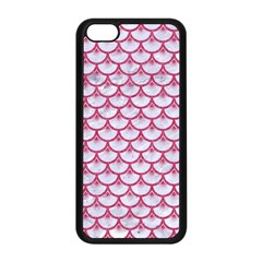 Scales3 White Marble & Pink Denim (r) Apple Iphone 5c Seamless Case (black) by trendistuff