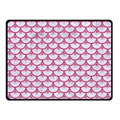 Scales3 White Marble & Pink Denim (r) Double Sided Fleece Blanket (small)  by trendistuff