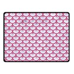 SCALES3 WHITE MARBLE & PINK DENIM (R) Double Sided Fleece Blanket (Small)  45 x34 Blanket Back