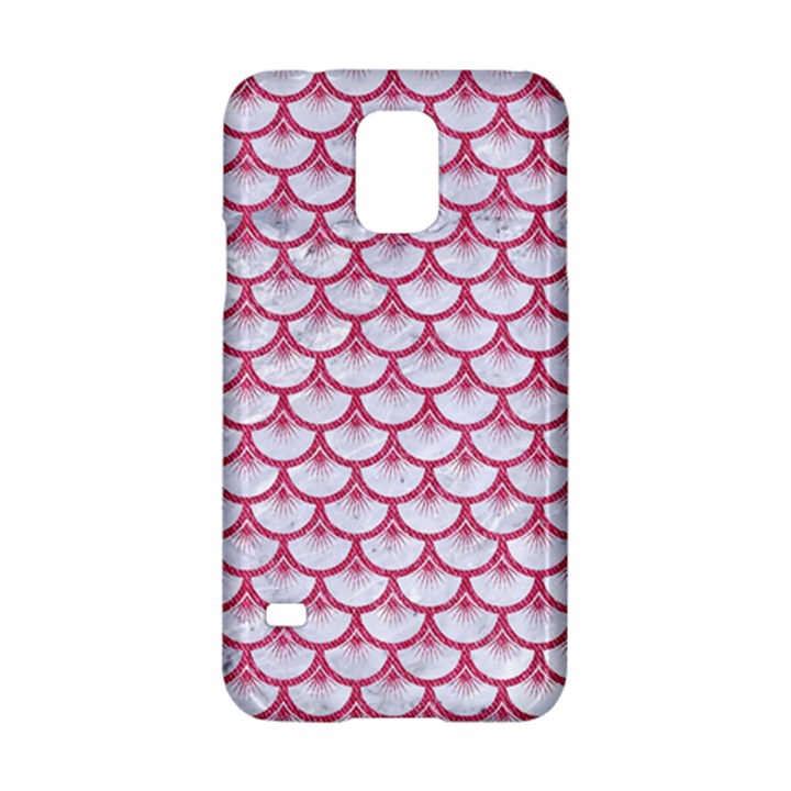 SCALES3 WHITE MARBLE & PINK DENIM (R) Samsung Galaxy S5 Hardshell Case