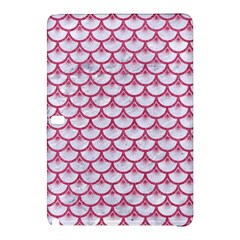 Scales3 White Marble & Pink Denim (r) Samsung Galaxy Tab Pro 12 2 Hardshell Case by trendistuff